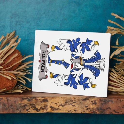 Rolfsen Family Crest Display Plaque