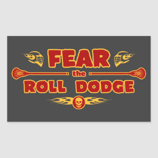Roll Dodge Rectangular Sticker