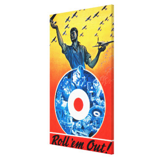 Roll 'em Out Royal Canadian Air Force Canvas Print