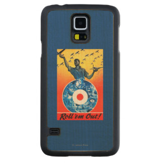 Roll 'em Out Royal Canadian Air Force Carved® Maple Galaxy S5 Slim Case