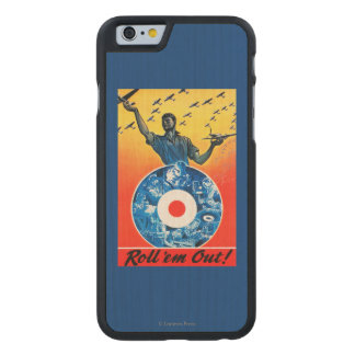 Roll 'em Out Royal Canadian Air Force Carved Maple iPhone 6 Slim Case