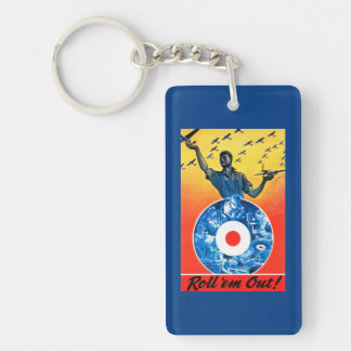 Roll 'em Out Royal Canadian Air Force Keychain