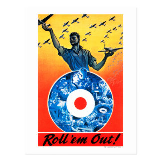 Roll 'em Out Royal Canadian Air Force Postcard