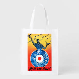 Roll Em Out Royal Canadian Air Force Reusable Grocery Bag