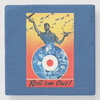 Roll 'em Out Royal Canadian Air Force Stone Coaster