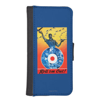 Roll 'em Out Royal Canadian Air Force Wallet Phone Case For iPhone SE/5/5s