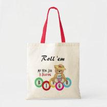 bingo, games, fun, humor, gambling, tote-bag, totes, bear, color, numbers, Bag with custom graphic design