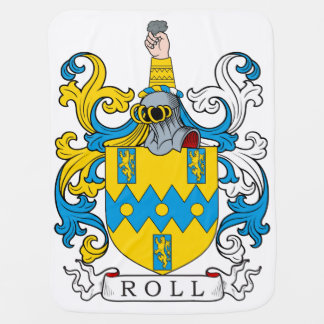 Roll Family Crest Receiving Blankets