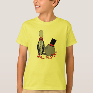 Roll In Style - Funny Bowling Shirts for Kids