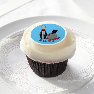 Roll in Style - Funny Icing Sheets Bowling Cupcake