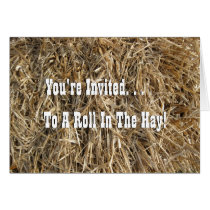 Roll In The Hay! Card
