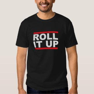 Roll it up Black Tshirt