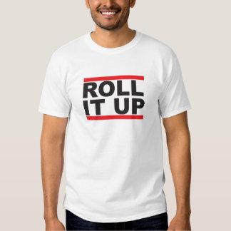 Roll it up white Tshirt