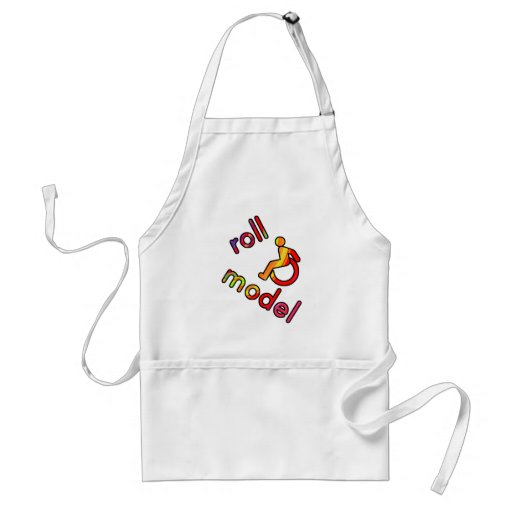 Roll Model - Disability Tees - in bright colours Adult Apron