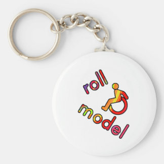 Roll Model - Disability Tees - in bright colours Keychain