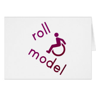 Roll Model - Disability Tees - in purple Cards