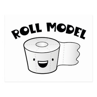 Roll Model Postcard