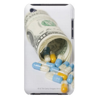 Roll of Dollar notes and capsules Barely There iPod Covers