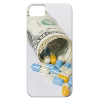 Roll of Dollar notes and capsules iPhone SE/5/5s Case