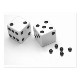 Roll of the Dice Postcard
