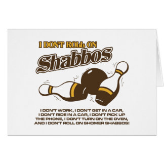 Roll on Shabbos Dude Card