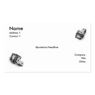 Roll the Dice Business Card Template
