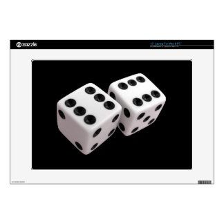 """Roll the Dice! Decals For 15"""" Laptops"""