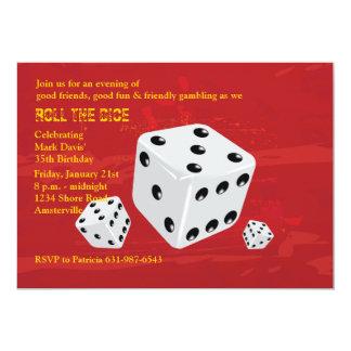 Roll the Dice Invitation