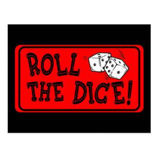 Roll The Dice Postcard