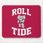 "Roll Tide with Big Al Mouse Pad<br><div class=""desc"">Check out these official Alabama Crimson Tide Logo products! Show your Crimson Tide pride by getting your Bama gear here.  These products will allow you to take your Alabama spirit with you wherever you go!</div>"