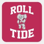 Roll Tide with Big Al Square Sticker