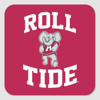 Roll Tide with Big Al Square Sticker