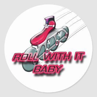 Roll With It, Baby Classic Round Sticker