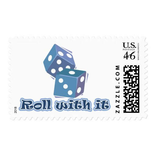 Roll with it - Dice Games Postage Stamps