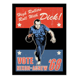 Roll With Nixon Postcard