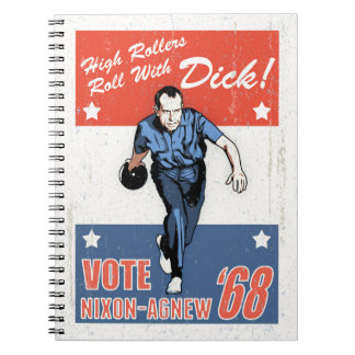 Roll With Nixon Spiral Notebooks