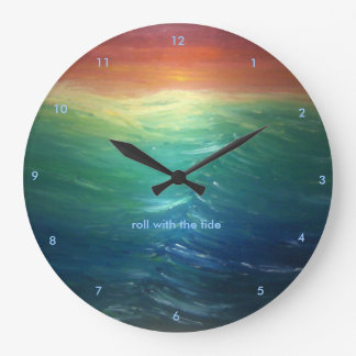"""""""roll with the tide"""" Wall Clock"""