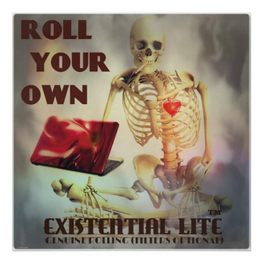 roll your own skeleton poster