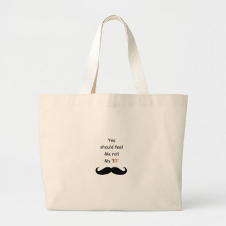 Roll your Stache Tote Bags