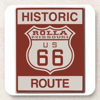 Rolla Route 66 Beverage Coaster
