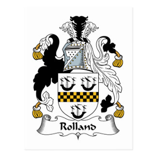 Rolland Family Crest Postcard