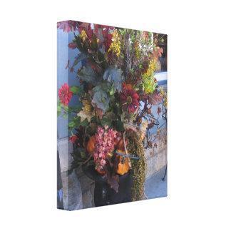 Rolled Canvas Flower Arrangement Canvas Print