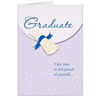 Rolled Diploma Graduate Graduation Congratulations Card
