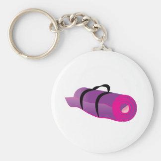 Rolled Mat Basic Round Button Keychain