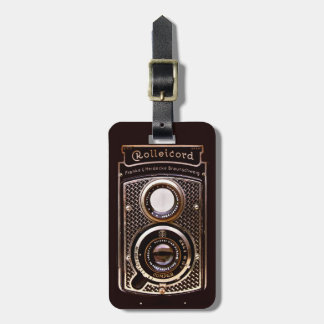 Rolleicord art deco camera tag for bags