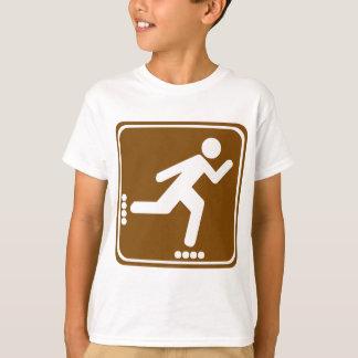 Roller Blading Highway Sign T-Shirt