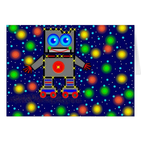 Roller Blading In Space Card