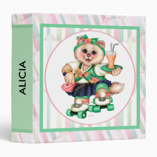 "ROLLER CAT CUTE Avery Signature 1.5"" Binder   2"