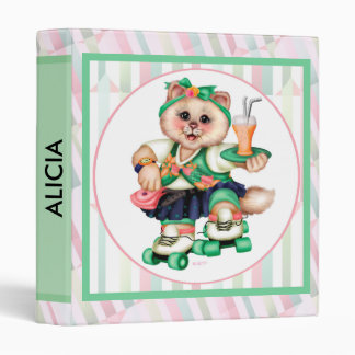"ROLLER CAT CUTE Avery Signature 1"" Binder 2"