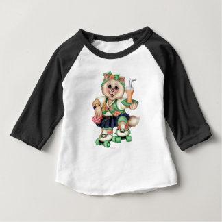 ROLLER CAT CUTE Baby American 3/4 Sleeve Raglan Baby T-Shirt